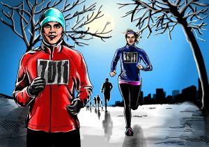 U Biřičky se sejdou běžci i cyklisti. Zdroj: winter-run.cz